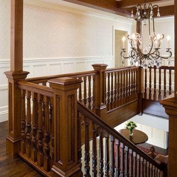 2nd Floor Stairway - Needham Home - 02 - Renovations