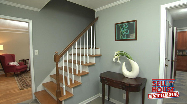Traditional Staircase by 3 Day Blinds