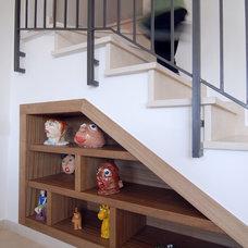 Mediterranean Staircase by NURIT GEFFEN-BATIM STUDIO
