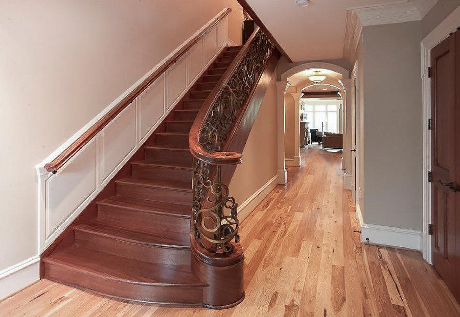 Mahogany & Forged Metal Staircase as Rich Architectural Detail, Arlington VA 222