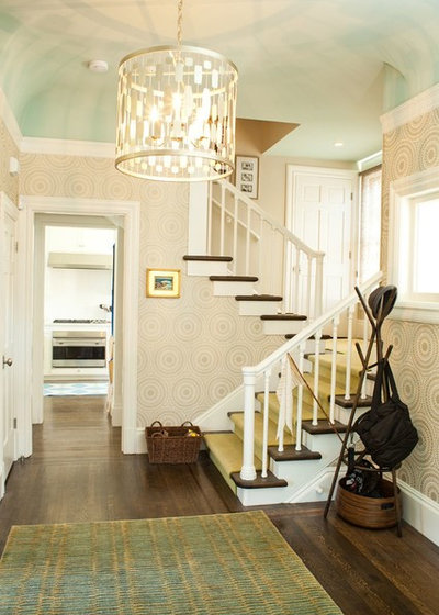 Transitional Staircase by Alicia Weaver Design, LLC