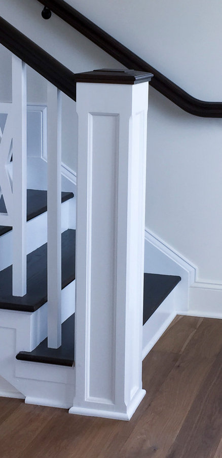 Sophisticated Farmhouse Style Stair, Aldie, VA 20105