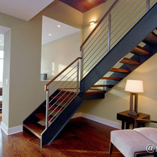 Contemporary Staircase by SPACE Architects + Planners