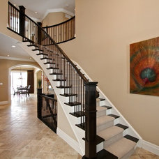 Traditional Staircase by Klondike Homes
