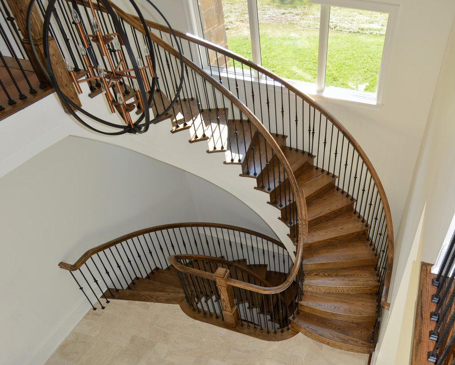 Elegant & Eye-Catching European Style Iron & Wooden Staircase, Leesburg VA 20175