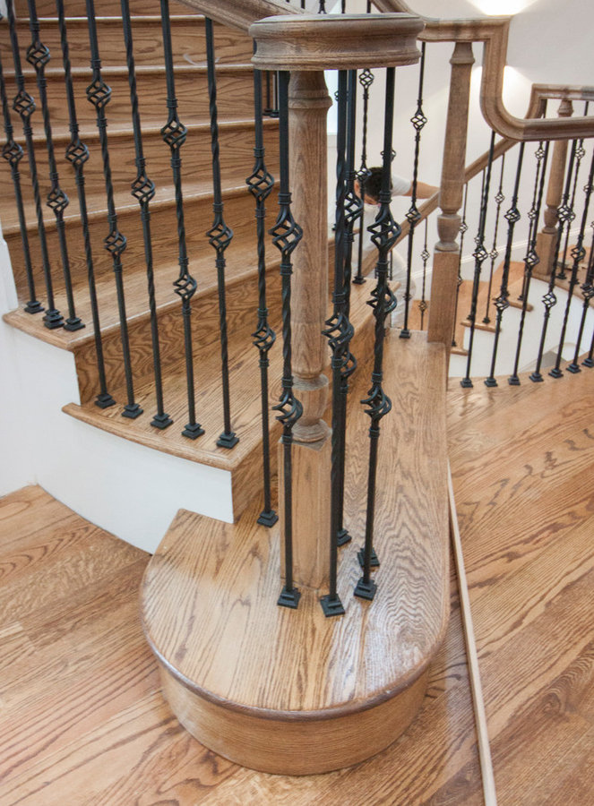 Old World Staircase Design with Traditional Balustrade System, Burke VA 22015