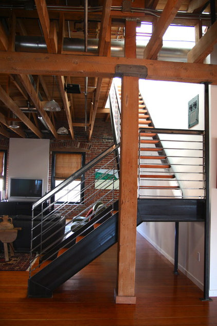 Industrial Staircase by Todd Davis Architecture