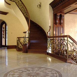 37_Captivating & Elegant Mahogany & Bronze Finish Staircase, Rockville, MD 20854