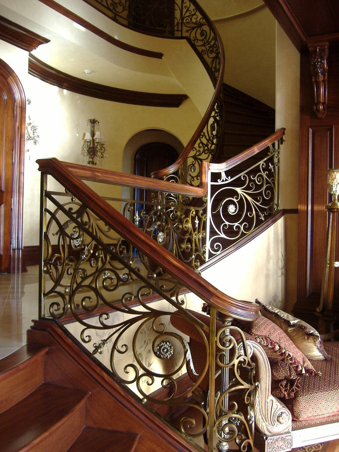 Captivating & Elegant Mahogany & Bronze Finish Staircase, Rockville, MD 20854