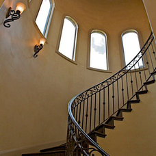 Mediterranean Staircase by Canyon Creek Homes, LP