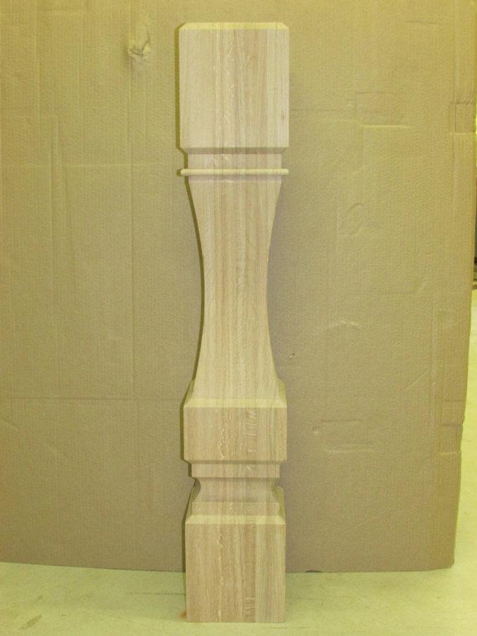 4-Sided, Square Profile White Oak Newel Post