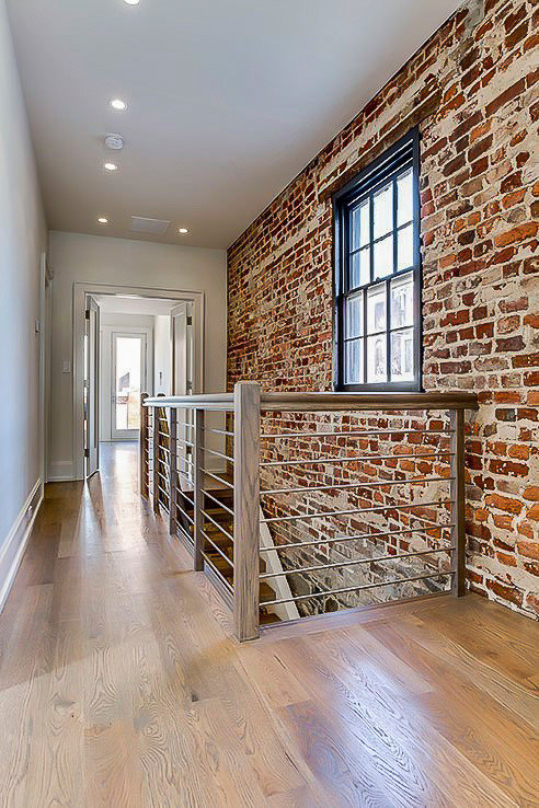 Contemporary Staircase in Historic Georgetown's Mule House, Washington DC 20007