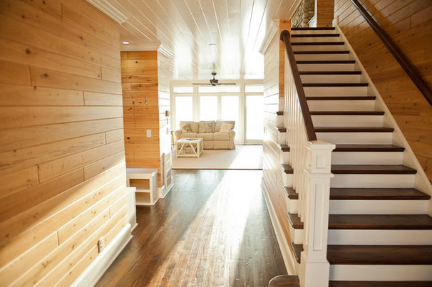 Traditional Staircase by Blue Sky Building Company