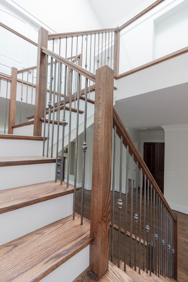 Clean and Contemporary Open Staircase, McLean, VA 22101