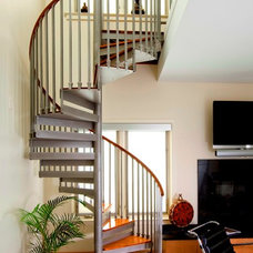 Contemporary Staircase by The Iron Shop