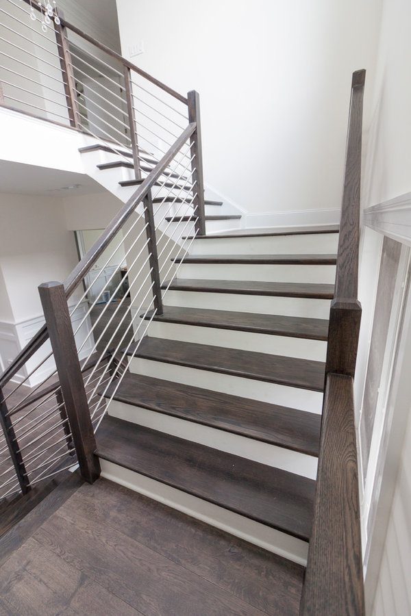 Striking Elegance and Simplicity in Geometrical/Floating Staircase, Vienna VA 22