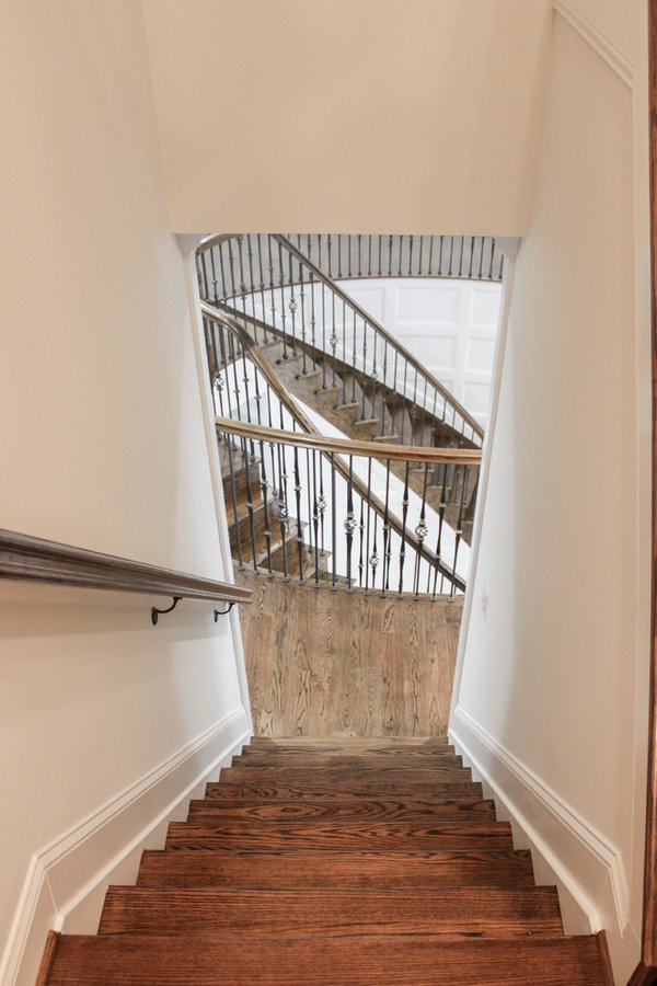 Elegant and Welcoming Twin Curved Staircase, Alexandria VA 22060