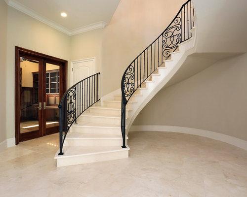 Mediterranean Staircase Tower : Mediterranean floating staircase design ideas renovations