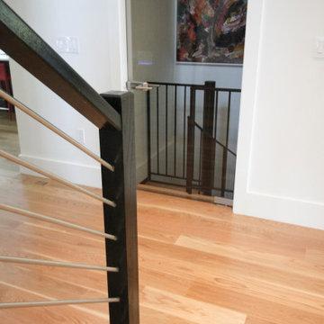 67_Crisp & Elegant Contemporary Stairs + Custom Spiral Stairway, Bethesda MD 208