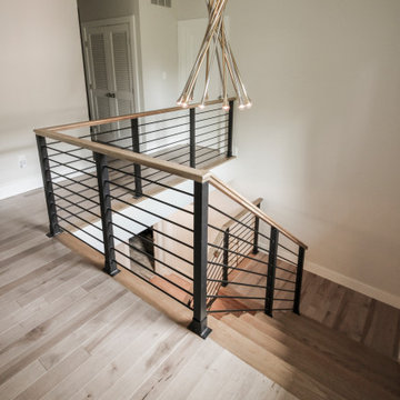 71_Modern/Neutral Hickory Stairs with Horizontal Balustrade, Bethesda MD 208177