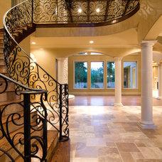 Mediterranean Staircase by Croix Custom Homes