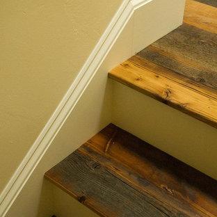 Идея дизайна: лестница в стиле фьюжн