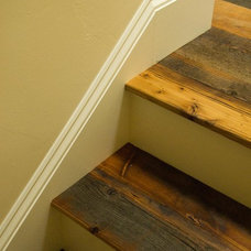 Eclectic Staircase by Reclaimed Lumber Products