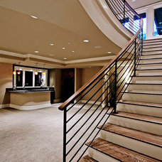 Contemporary Staircase by Infinity Homes NW, Inc