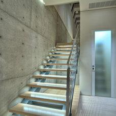 Contemporary Staircase by Lightopia
