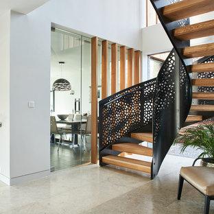 A contemporary staircase