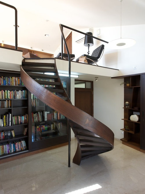 Contemporary wood spiral staircase design ideas pictures remodel decor - Modern interior design with spiral stairs contemporary spiral staircase design ...
