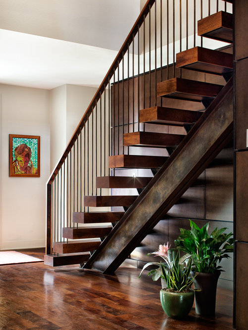 garage build out ideas - Stair Wood Beam Stringer Home Design Ideas