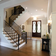 Transitional Staircase by Norwood Architects