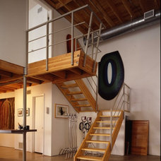 Industrial Staircase by Richard Wintersole Architect