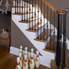 Eclectic Staircase by Gelotte Hommas Architecture