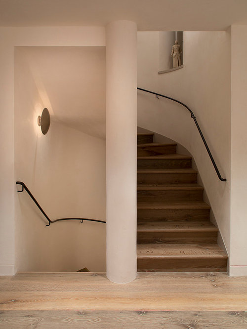 Enclosed Staircase Railing Home Design Ideas Renovations