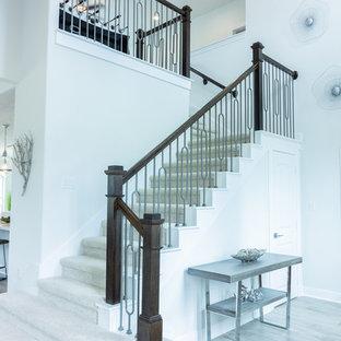 Exemple d'un escalier moderne.
