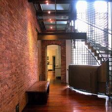 Modern Staircase by Abelow Sherman Architects LLC