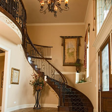 Traditional Staircase by King's Court Builders, Inc.