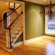 Traditional Staircase by Advantage Contracting
