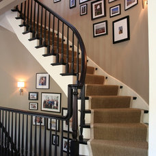 Transitional Staircase by CMR Interiors & Design Consultations Inc.