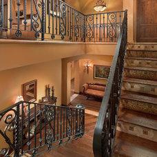 Mediterranean Staircase by AJ Design Studio