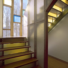 Contemporary Staircase by Cushman Design Group