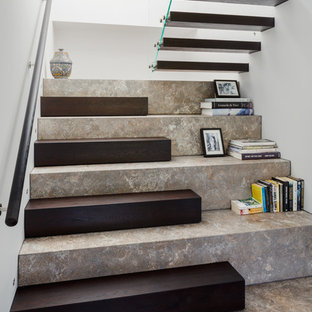 Large contemporary u-shaped staircase in London.