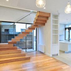 Modern Staircase by Rebecca Naughtin Architect