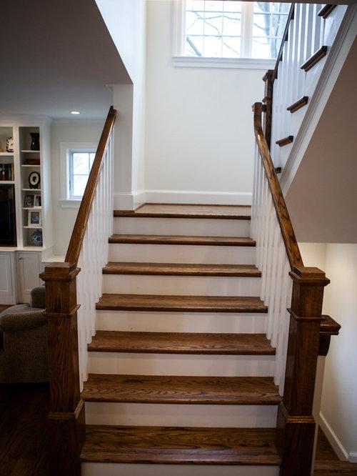 Farmhouse Dc Metro Staircase Design Ideas Remodels Photos