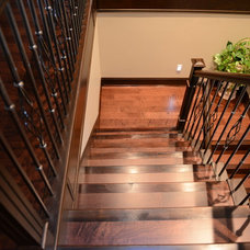 Traditional Staircase by JG Custom Builders