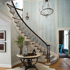 Traditional Staircase by Heather Garrett Design