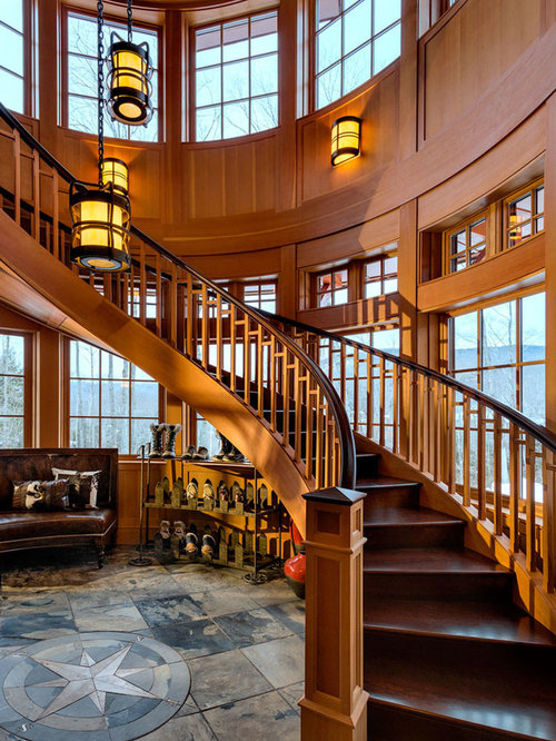 Rustic Staircase Design Ideas, Remodels & Photos