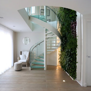 Amsterdam Apartment - Glass spiral staircase